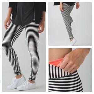 Lululemon Parallel Stripe Wunder Under Pants